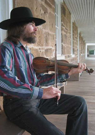 Fiddlin' at Fort Larned.